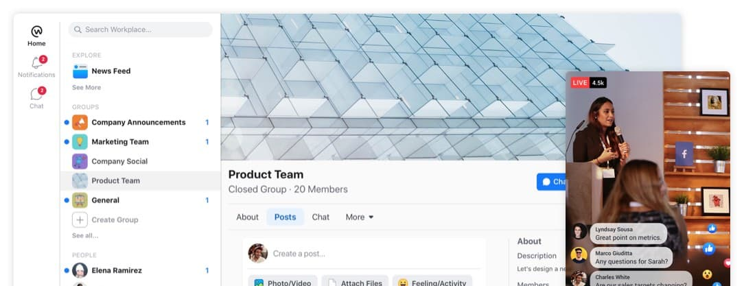 Workplace by Facebook: A Work Collaboration Tool