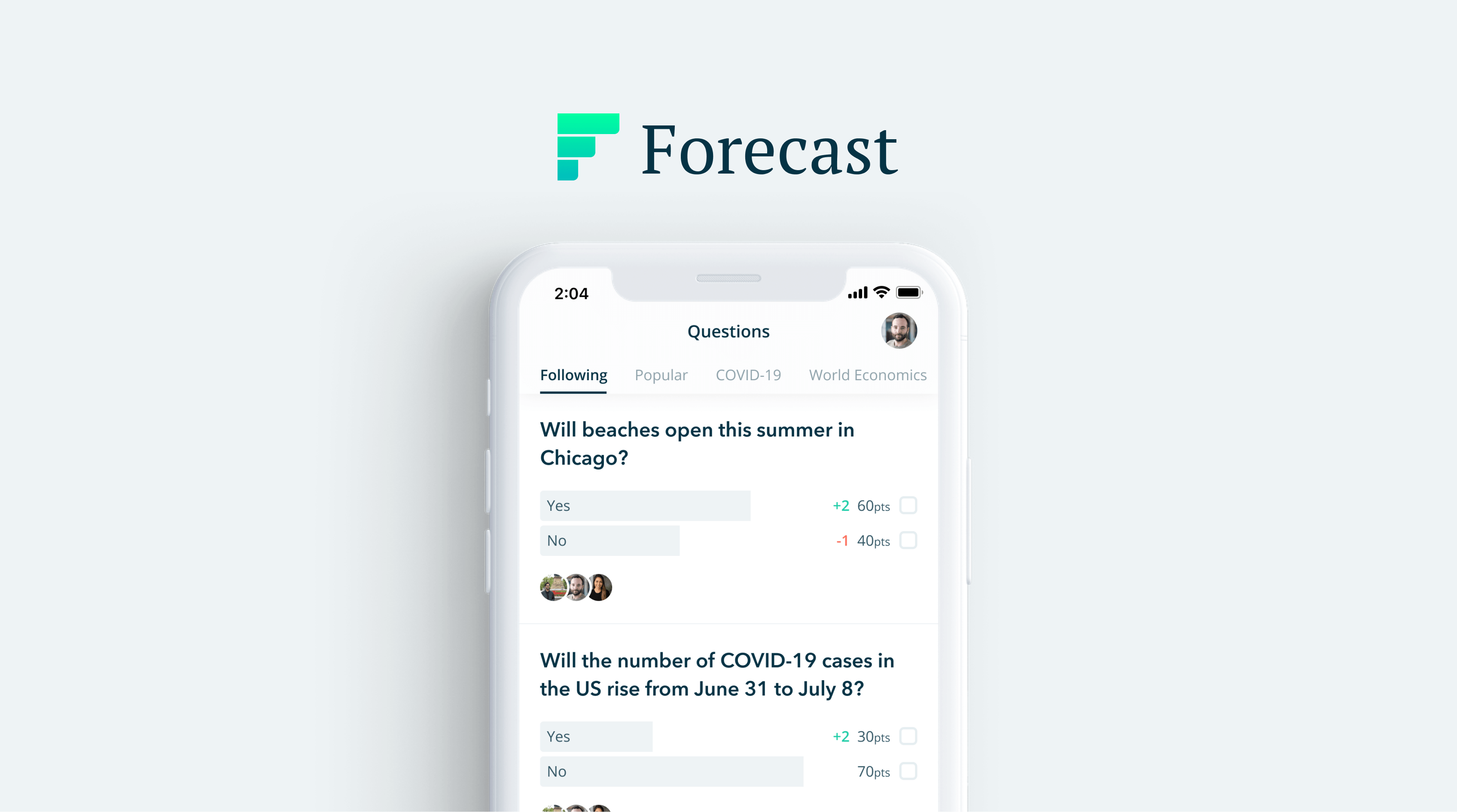 Forecast: A community for crowdsourced predictions